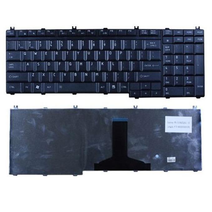 Клавиатура за Toshiba Satellite L500 P300 P500 L505 L505D L550 L350 L355 A500, US, черна (лъскава) image
