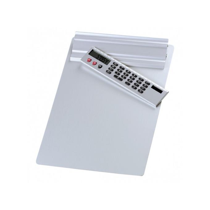 Клипборд Wedo, за документи с формат до А4, еко кожа, с калкулатор, без капак, бял image