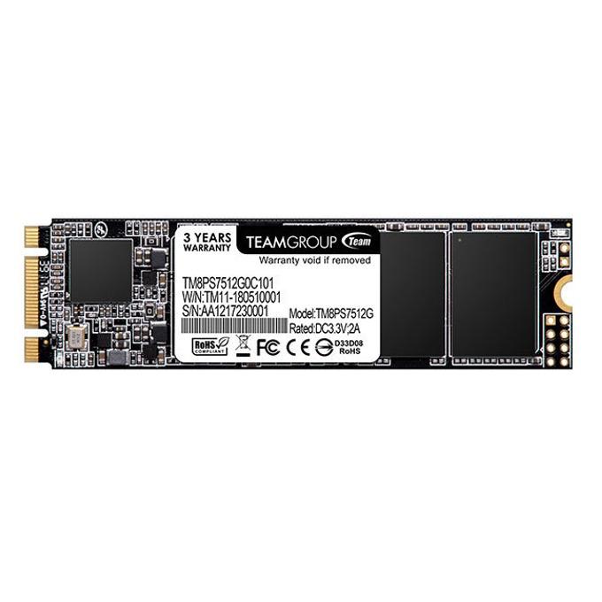 Памет SSD 512GB TeamGroup MS30, SATA III 6Gb/s, M.2 2280, скорост на четене 550 MB/s, скорост на запис 480 MB/s image