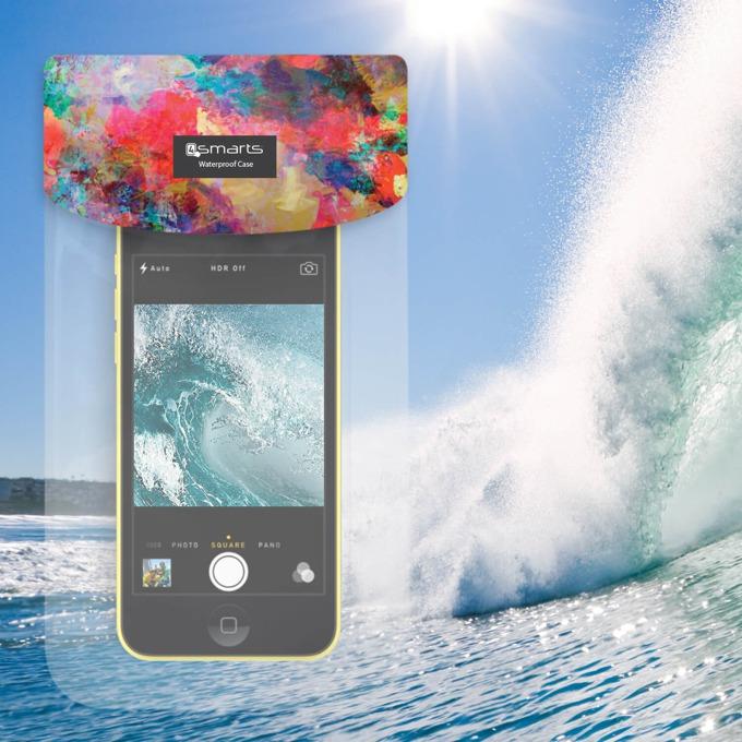 "Калъф за телефони до 6"", джоб, силиконов, 4Smarts Copacabana Holy, водоустойчив, прозрачен image"