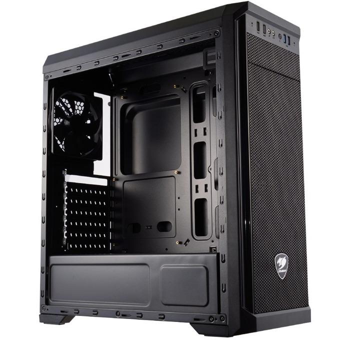 Кутия Cougar Gaming MX330-G Mid-Tower, ATX/Micro-ATX/Mini-ITX, 2x USB 3.0, прозрачен капак, поддържа водно охлаждане, черна, без захранване image