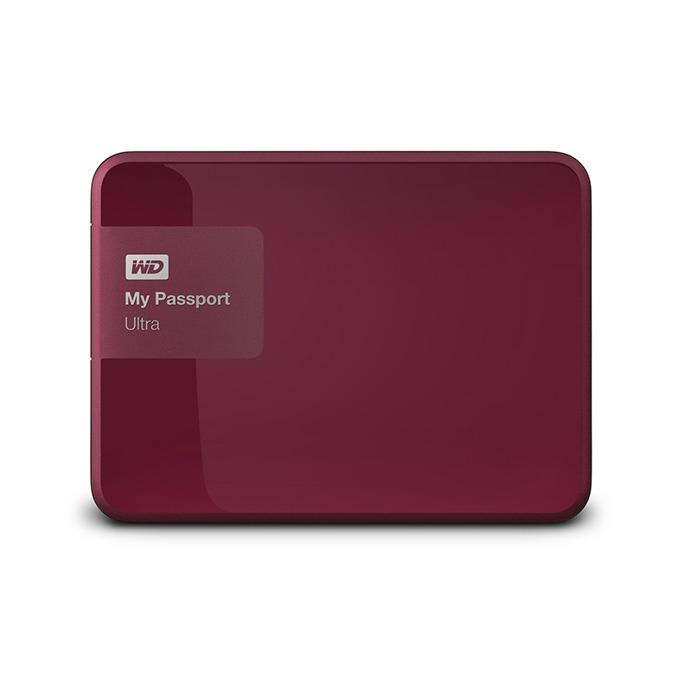 """Твърд диск 1TB WD MyPassport Ultra (червен), външен, 2.5"""" (6.35 cm), USB3.0 image"""