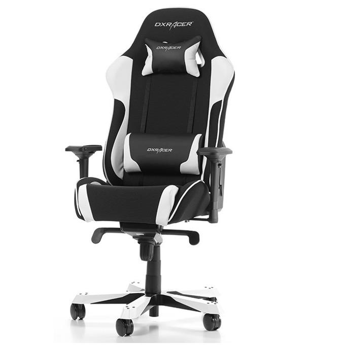 Геймърски стол DXRacer King OH/KS11/NW, черен/бял image