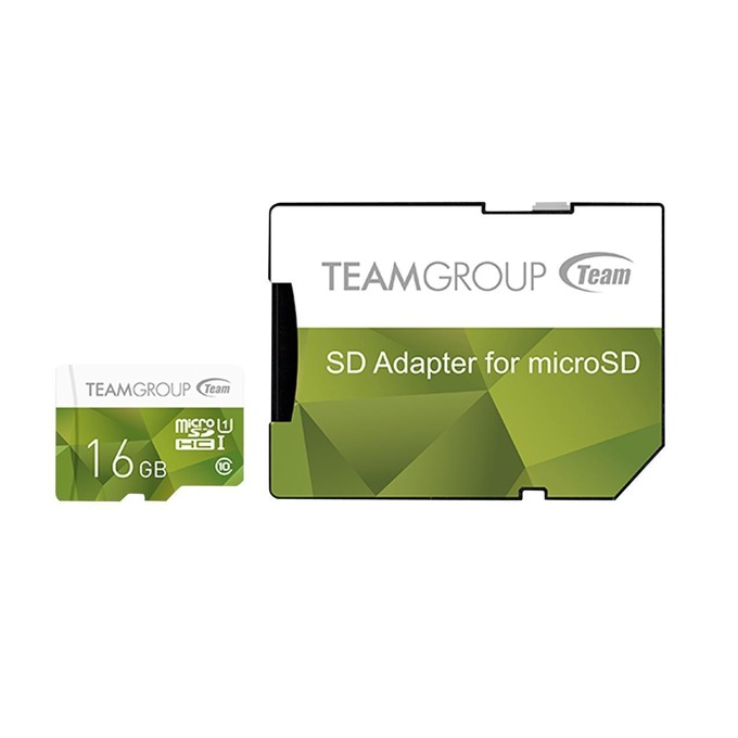 16GB microSDXC Team Group Color с адаптер, Class 10 UHS-I, скорост на четене 80 MB/s, скорост на запис 20 MB/s image
