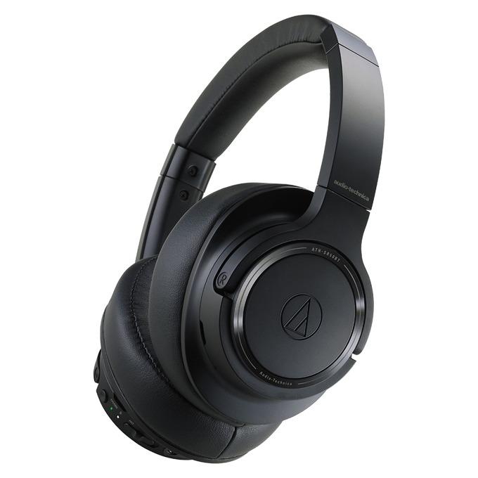 Слушалки Audio-Technica ATH-SR50BT, безжични, микрофон, черни image
