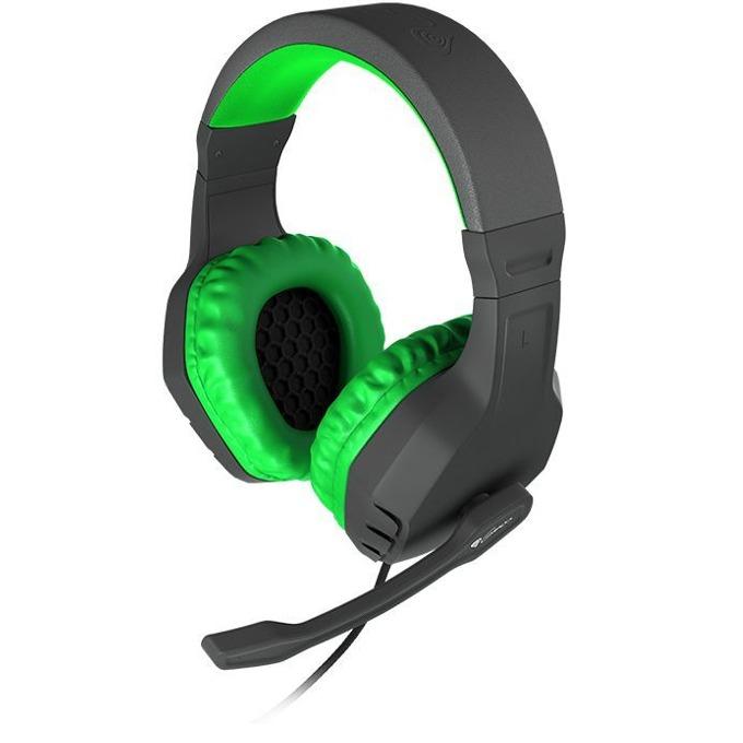 Слушалки Natec Genesis Argon 200, микрофон, геймърски, зелено/черни image