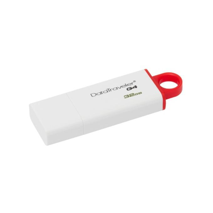 Памет 32GB USB Flash Drive, Kingston DataTraveler Generation 4, USB 3.0, бяла image