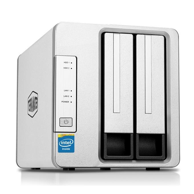 Мрежови диск (NAS) TerraMaster F2-420 (F2-420/2X8TB), четириядрен Intel Celeron J1900 2.00GHz/2.42GHz, 4 GB RAM, 2x 8TB Seagate NAS HDD, 2x RJ-45, USB 3.0, USB 2.0, Tower image