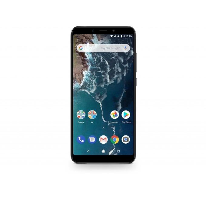 """Смартфон Xiaomi Mi A2 (черен), поддържа 2 sim карти, 5.99"""" (15.21 cm), осемядрен Snapdragon 660, 4GB RAM, 32GB Flash памет, 20MPix + 12MPix двойна задна камера & 20MPix предна камера, Android, 168g image"""