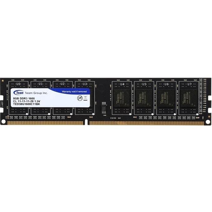 8GB DDR3 1600MHz, Team Group Elite, TED38G1600C1101, 1.5V image