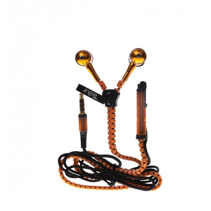 Слушалки Tellur In-Ear, Fantasy Zip series, микрофон, Stereo, оранжеви image