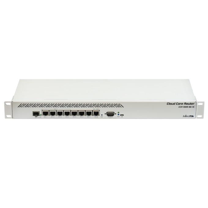 Рутер MikroTik CCR1009-8G-1S, 8x LAN 100/1000, 1x SFP, 1GB RAM image