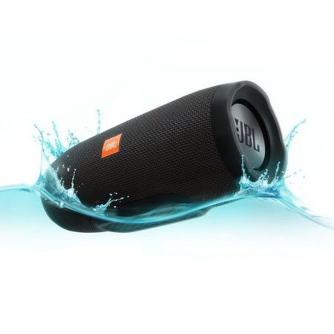 Тонколона JBL Charge 3, 2.0, 20W RMS, безжична, 3.5mm jack/Bluetooth, черен, микрофон, IPX7, до 20 часа работа image