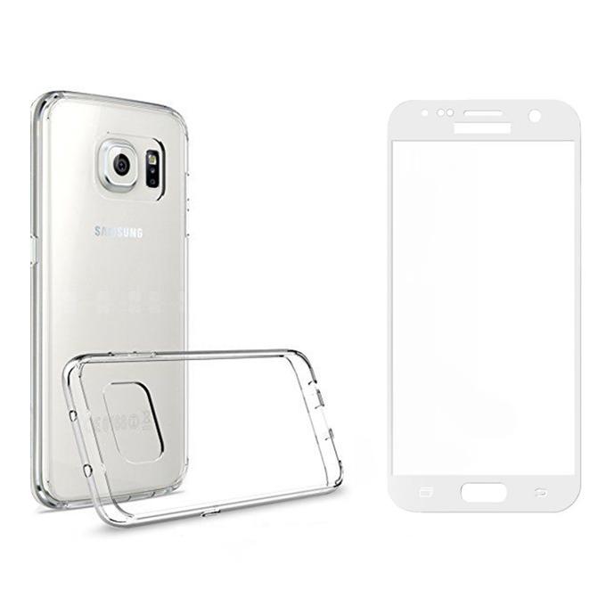 Комплект стъклен протектор бял + калъф Remax Crystal, за Samsung Galaxy S8 Plus, прозрачен image