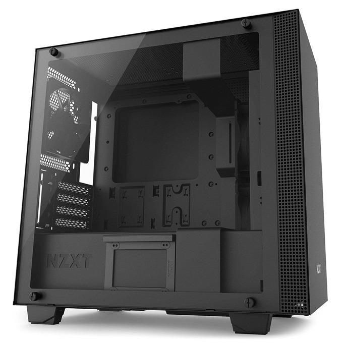 Micro ATX/miniITX, NZXT H400i, 2x USB 3.1 Gen 1, темперирано стъкло, RGB LED, черна, без захранване image