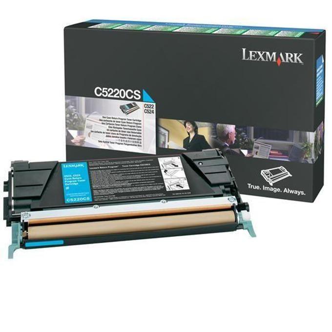 КАСЕТА ЗА LEXMARK OPTRA C 522/524/530/532/534 - Cyan - Return program cartridge - P№ C5220CS - заб.: 3000k image