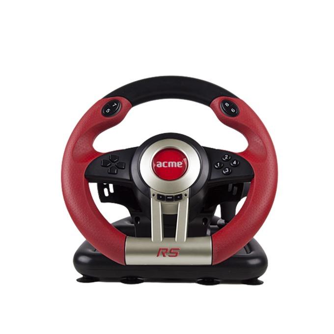 Волан с педали Acme RS, 180 градуса на въртене, USB, за PC, черни image