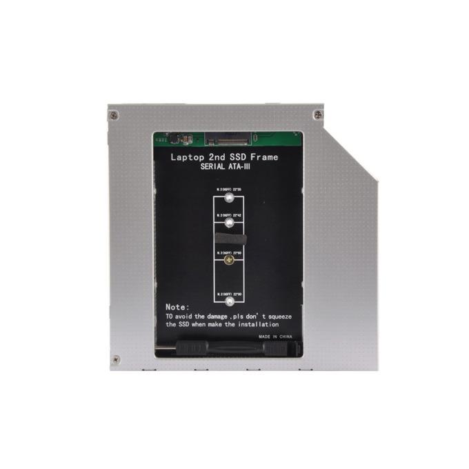 Преходник (mounting bracket) Makki MAKKI-CADDY-95-M2, от M.2 SSD към SATA3, сив image