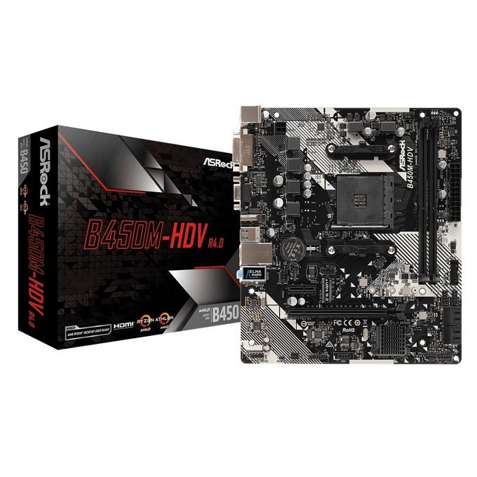 ASRock B450M-HDV R4.0 3Y