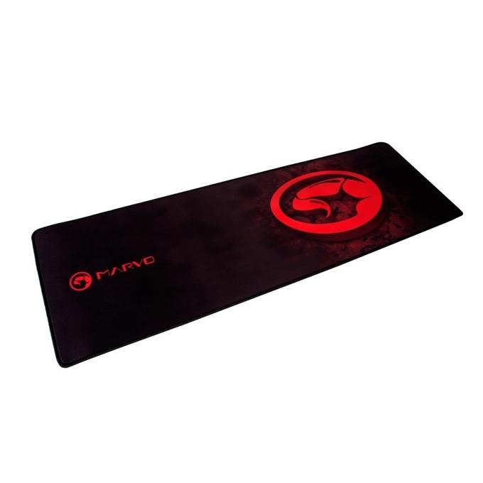 Подложка за мишка Marvo G13 - XL, гейминг, 900 mm x 294 mm x 4 mm, черна/червена image