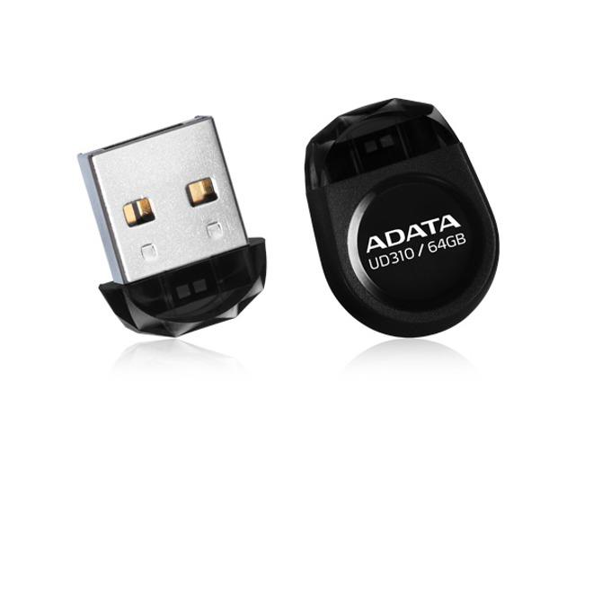 Памет 64GB USB Flash Drive, A-Data UD310, USB 2.0, черна image