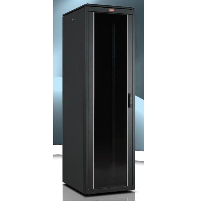 """Комуникационен шкаф Lande LN-FS42U6080-BL-111, 19"""", 42U, 600 x 800 мм, стъклена врата, черен image"""