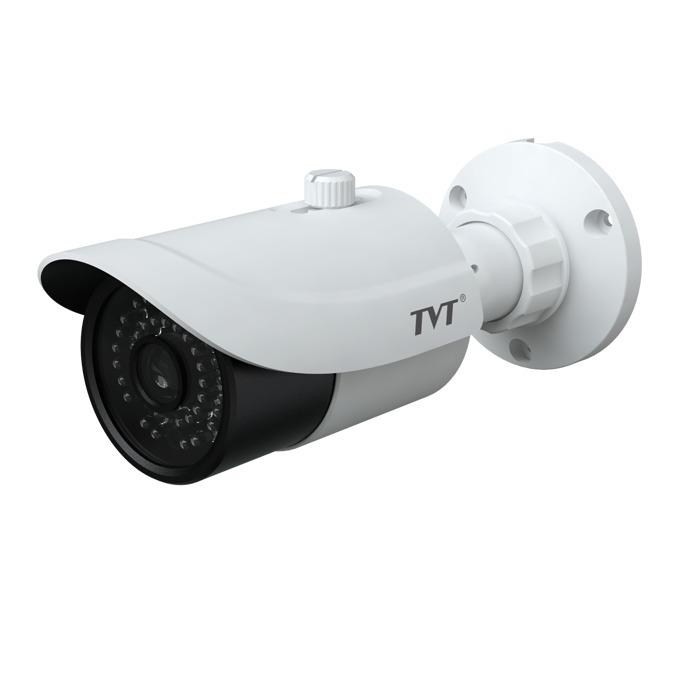 "IP камера TVT TD-9482E2(D/PE/IR2), насочена ""булет"", 8 Mpix(3840×2160@30FPS), 3.6 mm обектив, H.265 MP; H.264 BP / MP / HP; MJPEG, IR осветеност (до 30м), IP66 защита, PoE, RJ-45 image"