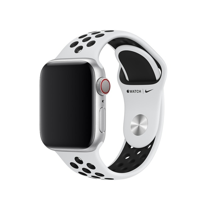 Apple 0mm Nike Band: Pure Platinum/Black Nike Spor product