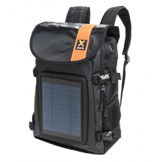 Раница A-Solar Xtorm AB318/XB099 със соларен панел, 4000mAh литиево йонна батерия, USB(ж), водоустойчива, 25 литра, черна image