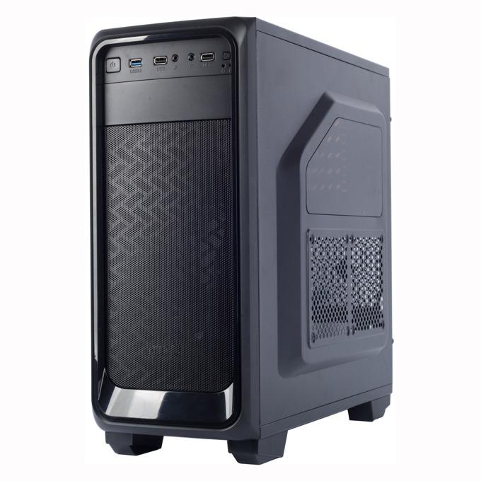 Кутия Spire DARK KNIGHT X2-T1612B/W-2U3-2BL, ATX/mATX, 2x USB 3.0, черна, без захранване image