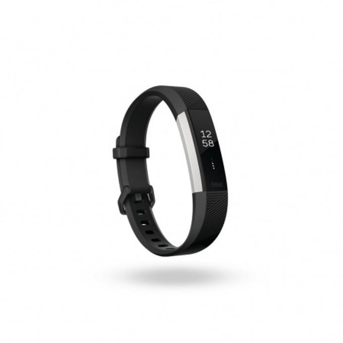 Смарт гривна Fitbit Alta HR Large Size, Bluetooth, до 7 дни издръжливост на батерията, Mac OS X 10.6 (или по-нова), iPhone 4S (или по-нова), iPad 3 gen. (или по-нова), Android and Windows 10 devices, черна image