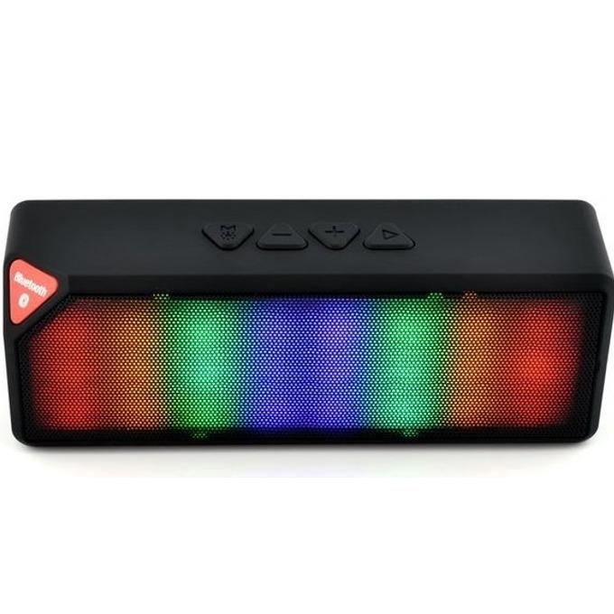 Тонколона DIVA BT1230B, 1.0, 3 W RMS, безжична, Bluetooth, AUX, слот за microSD карта, цветни LED светлини, черна image