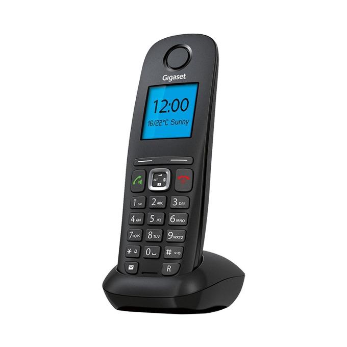 """VoIP телефон Gigaset A540 IP, 1.8"""" (4.6cm) черно-бял дисплей, 1x 10/100Mbps(RJ45), светеща клавиатура, до 6 слушалки към 1 база, черен image"""