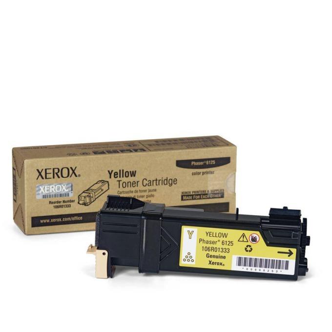 КАСЕТА ЗА XEROX Phaser 6125N - Yellow - P№ 106R01337 - заб.: 1000k image