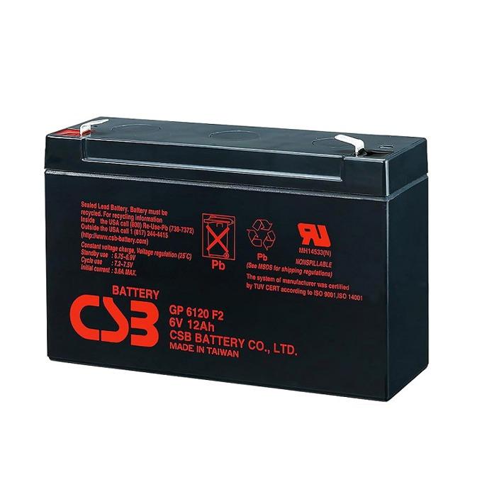 Акумулаторна батерия CSB, 6V, 12Ah image