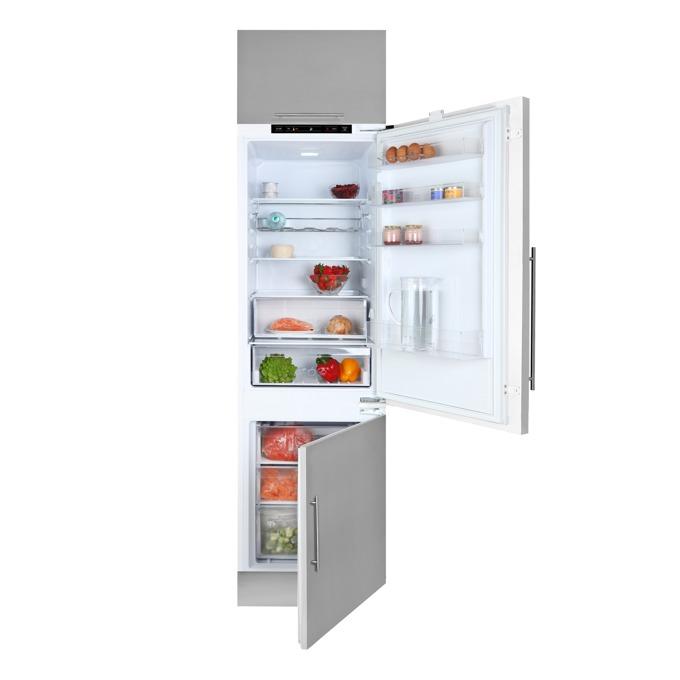 Хладилник с фризер Teka CI3 350 NF, клас А++, 255 л. общ обем, за вграждане, 233 kWh/годишно, възможност за обръщане на вратата, No Frost система, Turboflow система, LED осветление, бял image