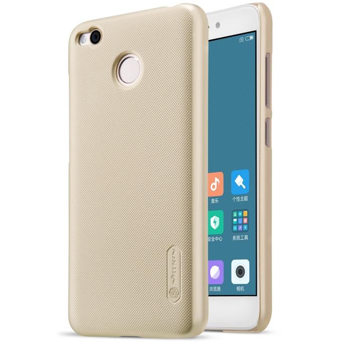 Калъф за Xiaomi Redmi 4, страничен с гръб, поликарбонат, Nillkin, златист image