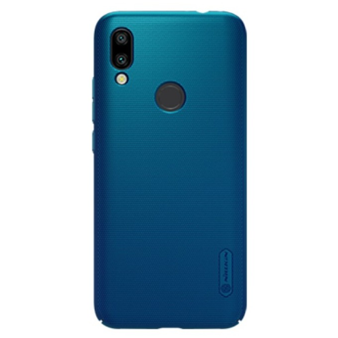 Калъф за Xiaomi Redmi 7, поликарбонатен, Nillkin Super Frosted Shield, син image