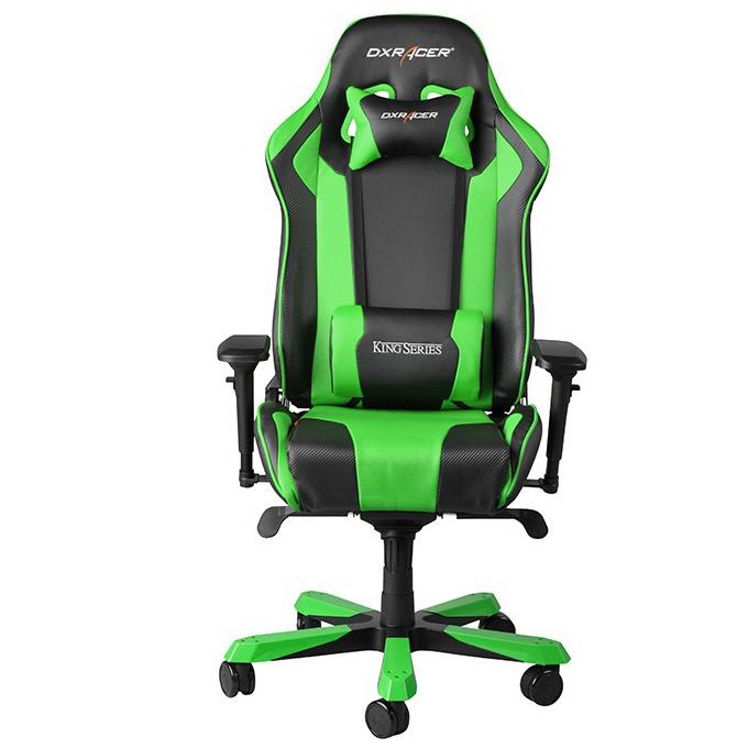 Геймърски стол DXRacer King OH/KF06/NE, черен/зелен image