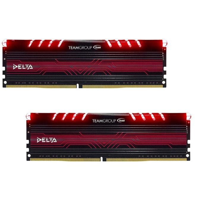16GB (2x8GB) DDR4 3000MHz, Team Group Delta Red, TDTRD416G3000HC16CDC01, 1.35V image