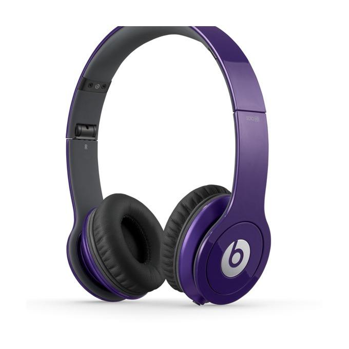 Слушалки Beats by Dre Solo HD On Ear, лилави, сгъваеми, оптимизирани за iPhone/iPad/iPod image