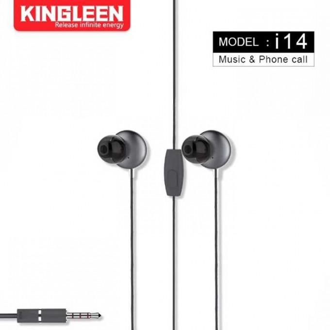 Слушалки Kingleen i14, микрофон, 1.2m кабел, сиви image