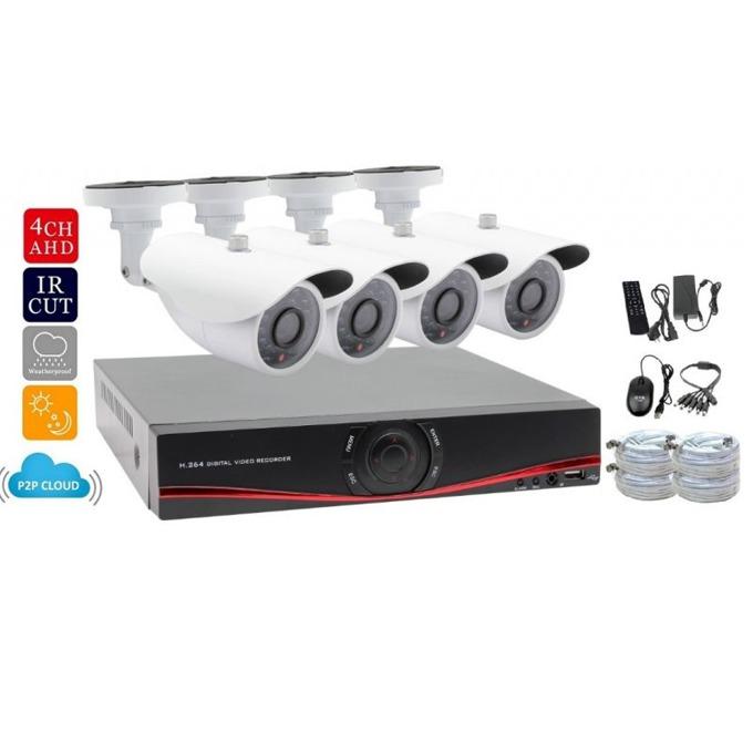 DVR BlackAT + 4 AHD cameras 4CH-1MP-DVR-KIT