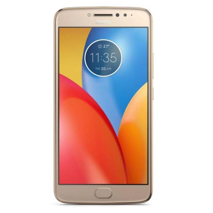 "Motorola MOTO E4+ (златист), поддържа 2 sim карти, 5.5"" (13.97 cm) HD дисплей, четириядрен MediaTek MT6737 1.3GHz, 3GB RAM, 16GB Flash памет, 13.0 & 5.0 Mpix camera, Android, 198g image"