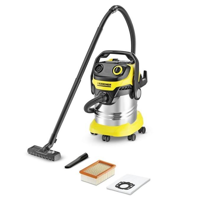 Прахосмукачка Karcher WD 5 Premium, без торба, 1100 W, 25 л. капацитет на контейнера, Kärcher филтър, жълта image