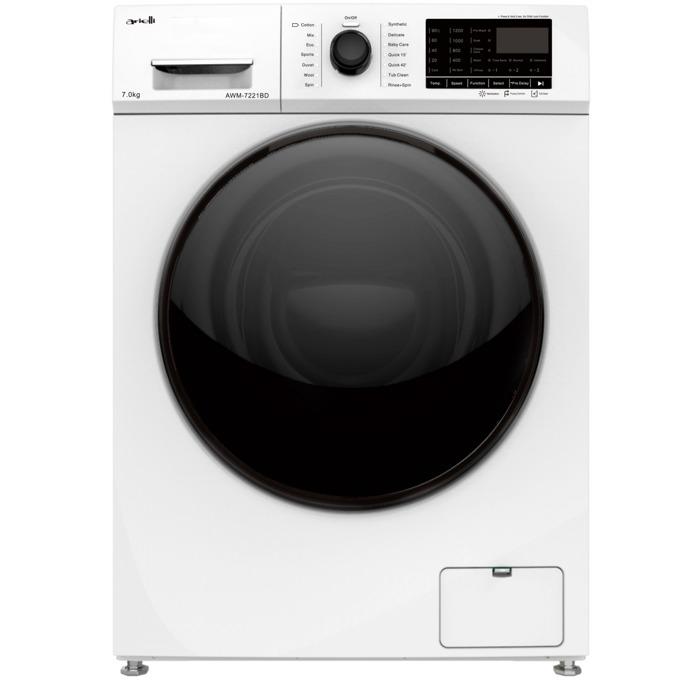 Пералня Arielli AWM-7221BD, клас A++, 7 кг. капацитет на пералня, 1200 оборота в минута, брой програми 14, свободностояща, 60cm ширина, регулируема температура, бяла image