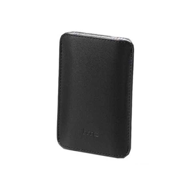 Калъф за HTC Pouch PO S550, джоб кожен, черен image