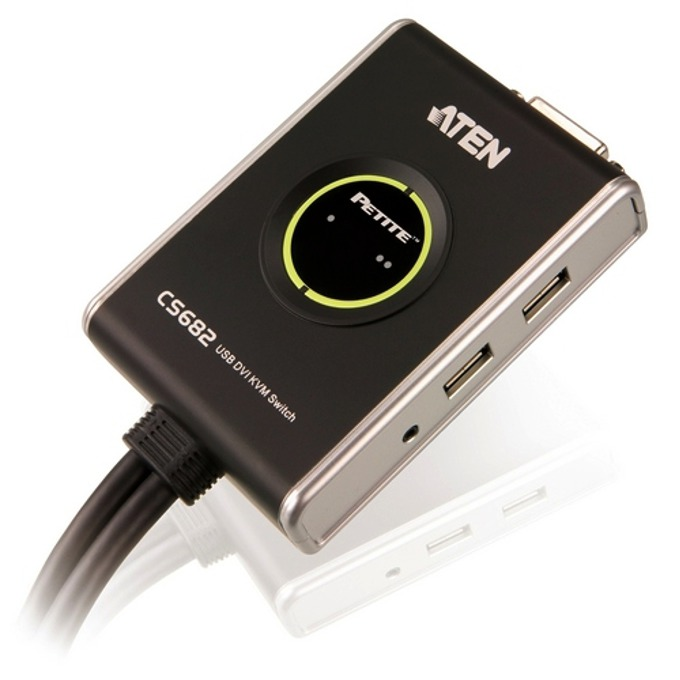 KVM Switch ATEN CS682, 2x 1, USB, DVI image