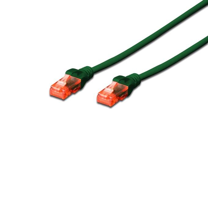 Patch cable Assmann, UTP, Cat.6, 2m, зелен image
