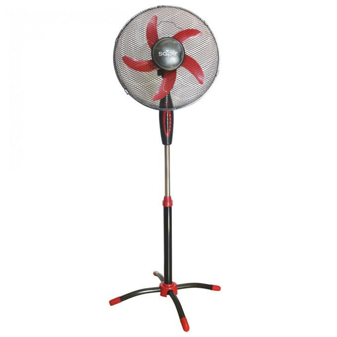 Настолен вентилатор Sapir SP 1760 CM16, 3 cтeпeни нa мoщнocттa, 40 см. диаметър, 45W, черен/червен image